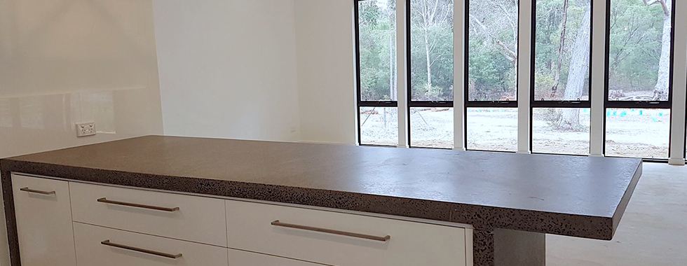 POLISHED CONCRETE BENCH TOPS